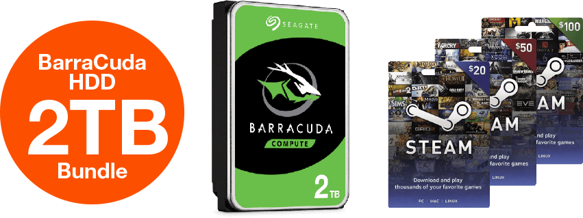 BarraCuda HDD 2TB Bundle