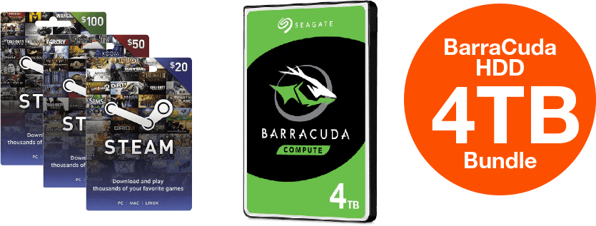 BarraCuda HDD 4TB Bundle