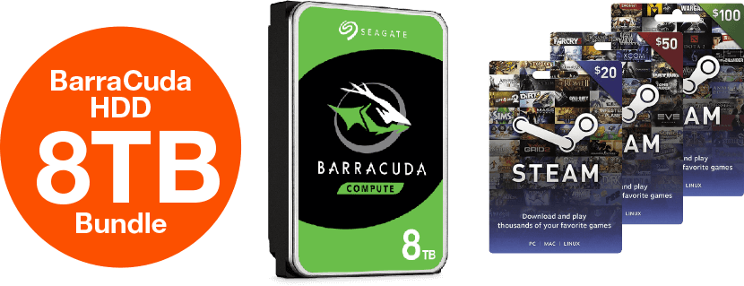 BarraCuda HDD 8TB Bundle