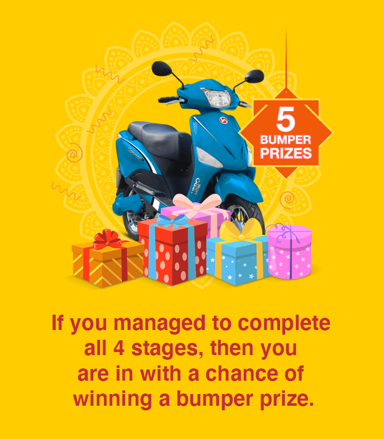 Complete all 4 stages for a chance to win the bumper prizes
