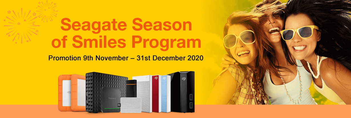 Seagate Season of Smiles Program - Promotion 9 Nov-31 Dec 2020